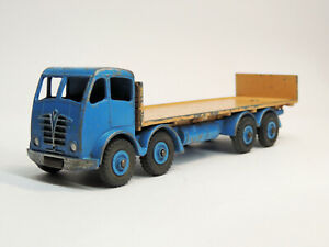 VINTAGE DINKY SUPERTOYS 903 FODEN FLAT TRUCK with TAILBOARD RARE BLUE/TAN
