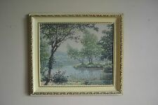 Set of THREE Vintage Shabby Prints Wondura Frame USA Mid Century M. Goodman Mfg