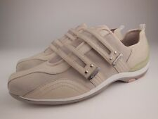 AETREX Abbey Beige Leather Suede Double Strap Walking Sneakers Shoes Sz 9