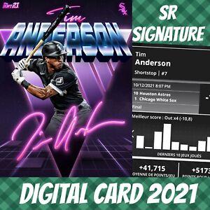 Topps Bunt 21 Tim Anderson Retro Signature S/3 2021 Digital Card