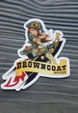Firefly/Serenity Browncoats Brass Sticker Decal airplane pin-ups 3.5x4 in