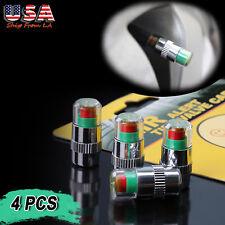 4x 36PSI TPMS Tire Pressure Monitor Valve Stem Caps 3 Color Sensor Indicator