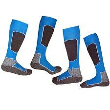 Blue Ladies Mens Skiing Snowboarding Ski Warm Thermal Long Winter Socks US 4-13