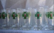 8 Vintage RX Pharmacy Drinking Glasses Caduceus Medical Pharmacy Barware Libbey