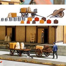 Busch 1625 Zwei Gepäckkarren mit Zubehör H0