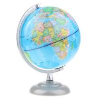 25 cm Höhe 20 cm Metall Basis Weltkarte Globus Tischdekoration Teaching