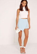 NEW BNWT MISSGUIDED BLUE CREPE SKORT SKIRT SIZE 8 EUR 36
