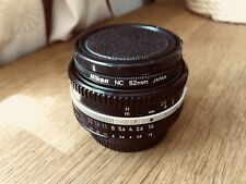 Nikon Nikkor 50mm F/1.8 AIS MF Lens, mk.III + genuine Nikon NC 52mm filter
