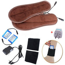Electric Battery Powered Heated Insoles Heater Socks Shoes Holder Keep Feet Warm