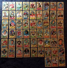57 1970 FOOTBALL CARDS ALL DIFFERENT HIGH GRADES GRIESE-STARR-TARKENTON-SAYERS &