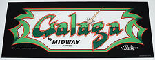 GALAGA Plexiglass Marquee Midway Logo Screen Printed - PA EXCLUSIVE!