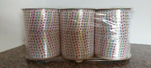 """Lot of 3 BERWICK OFFRAY CUP CAKE CURLING RIBBON SPOOL  1/4"""" X 100ft  BIRTHDAY"""