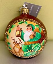 Patricia Breen Grande Orb Lighting the Way #3857 2018 Glass Glitter Reindeer
