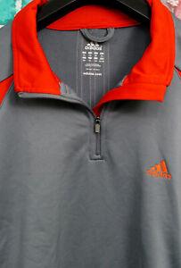 Adidas Mens 1/4 Zip Golf Sweatshirt Size XXL, 2XL