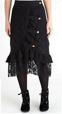 Joe Browns Black Victorian Gothic Lace Sassy Skirt Size 10