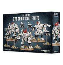 Warhammer 40K Tau Empire XV8 Crisis Battlesuit Team (3 Crisis suits) New Unboxed