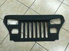 1987-95 JEEP WRANGLER YJ OVERLAY GRILLE FURIOUS  ANGRY EYES  FIBERGLASS BLACK