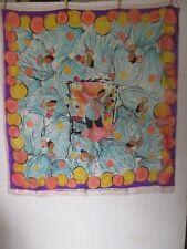 South Pacific Broadway Musical souvenir silk scarf w Juanita Hall illustrations