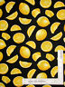 Lemon Fruit Food Kitchen on Black Cotton Fabric Timeless Treasures C1845 By Yard