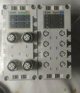 SMC EX600-DXPC Digital Input (8) AND EX600-AMB Analog Input/Output (2/2) Modules
