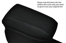 BLACK STITCH ARMREST LEATHER SKIN COVER  FITS TOYOTA AURIS 2012-2015