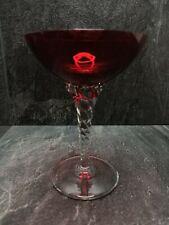 More details for lovely vintage ruby glass twisted stem