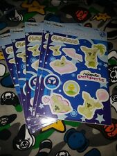 5 sheets Neopets Harris JUMBO stickers w/ RARE ITEM CODE party favor acid free