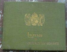 L'ELEVAGE DE CHEVAUX EN HONGRIE volume illustré vers 1900