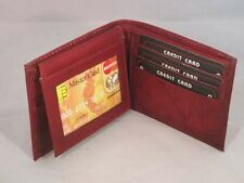 WALLET MENS LEATHER BIFOLD SECRET POCKET BROWN NEW GREAT GIFT IDEA