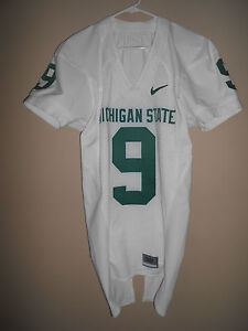 MICHIGAN STATE GAME USED  FOOTBALL JERSEY