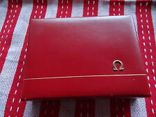 NOS RARE VINTAGE OMEGA RED WOODEN WATCH BOX 1950s SEAMASTER/CONSTELLATION