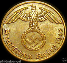 Germany  German 1940A Reichspfennig Coin  Third Reich World War 2