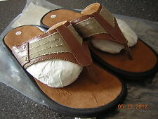 NIB Men's Size 12 Brown thong sandals - casual or dressy - Perfect for summer!