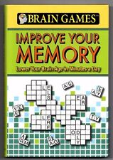 NEW Brain Games: Improve Your Memory Hardcover Puzzles  2010 Free USA Shipping!