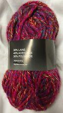 5 pelotes  de laine rouge  tweed  / Fabriqué en FRANCE