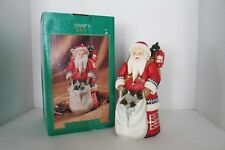 "Old World Santa Christmas On Mainstreet Collectables 9"" - Hand Painted - In box"