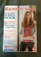 NEO Products Super Magnetic Mesh Hands Free Screen Door 18 Magnets