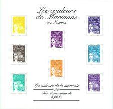 TIMBRE FRANCE :  BLOC  N° 44,   Les couleurs de Marianne en Euros,  neuf **.