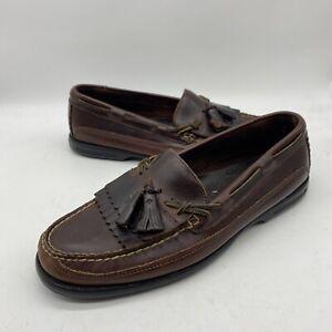 Sperry Top-Sider Dark Brown Leather Men 10.5 M Tremont Boat Kiltie Tassel Loafer