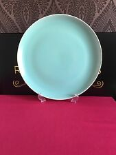 Rare Poole Twintone Very Large Round Serving Platter Green 34 cm