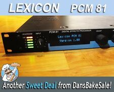 Lexicon PCM 81 Studio Live Digital Multi Effects Processor Tested & Works Great!