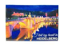 Heidelberg Burg Brücke Foto Magnet Germany 8 cm Reise Souvenir