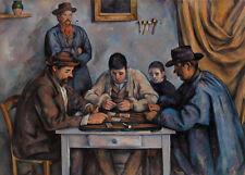 The Card Players by Paul Cézanne 60cm x 43cm Art Paper Print