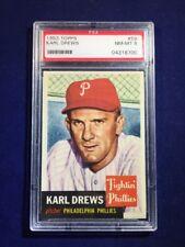 1953 Topps Karl Drews #59 PSA 8 Philadelphia Phillies