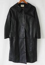 Vtg The Sheepskin Shop Pittard's Leather Coat Black England Size L/XL