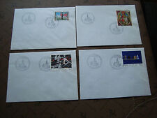 FRANCE - 4 enveloppes 1985/1986 (cy47) french