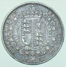 More details for 1887 victoria jubilee head halfcrown, british silver coin gvf