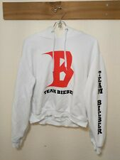 Team Justin Bieber HM Divided White Hoodie Pre Loved Bieber Fever. Size Medium