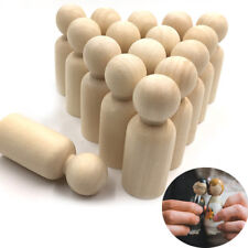Blank Wooden People Peg Dolls Figures Wedding Cake Toppers DIY Craft Toys 5pcs