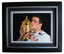 Martin Johnson Signed 10x8 Framed Photo Autograph Display England Rugby Union